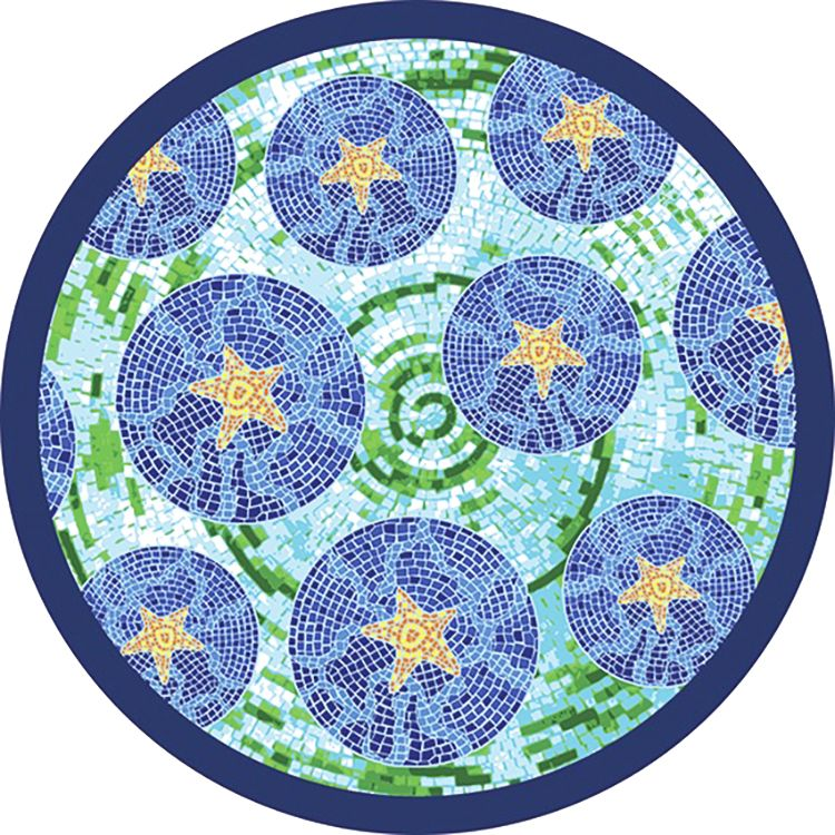 Round Beach Towel - Mosaic 63""