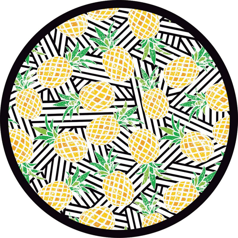 Round Beach Towel - Pineapples 63""