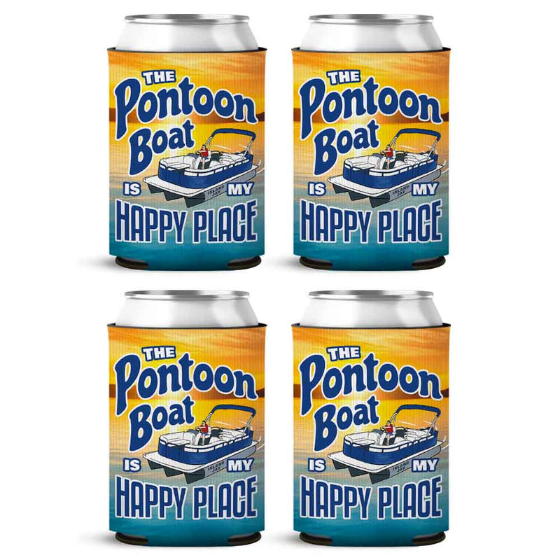 The Pontoon Boat Is my Happy Place Can Cooler Sleeve