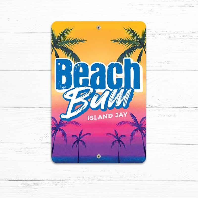 "Beach Bum 8"" x 12"" Beach Sign"