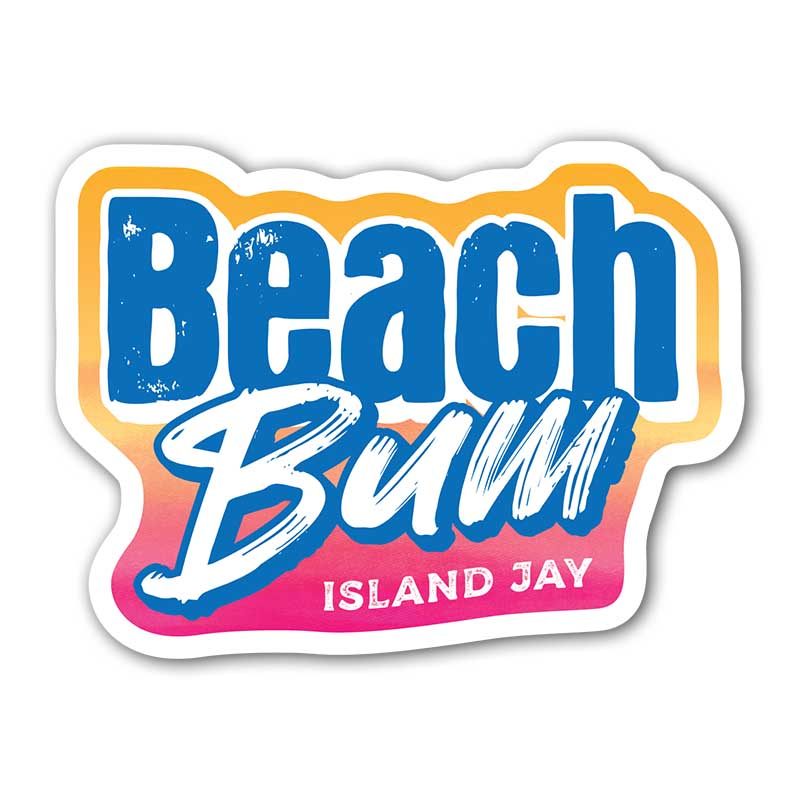 Beach Bum Die Cut Beach Sticker