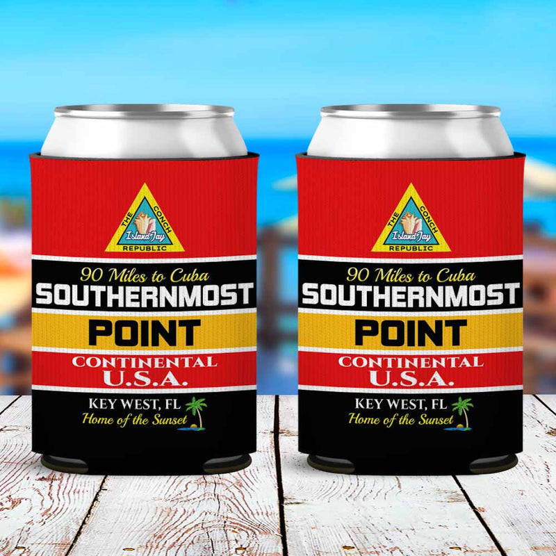 Key West Southernmost Point Neoprene Drink Can Cooler Sleeve