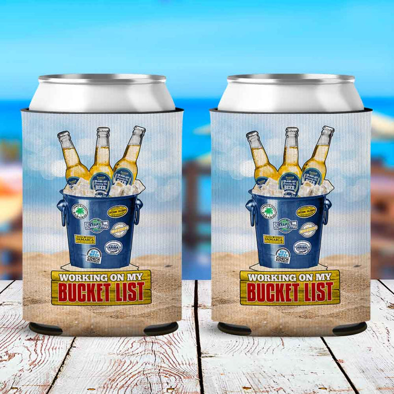 Working On My Bucket List Neoprene Drink Can Cooler Sleeve