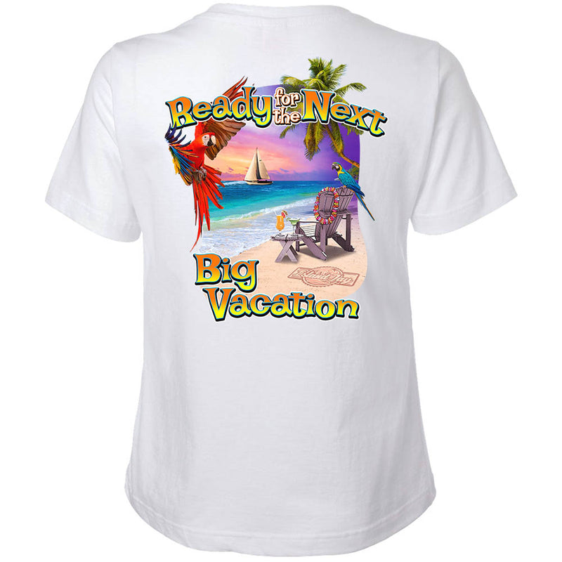 Ladies Ready For The Next Big Vacation V-Neck T-Shirt