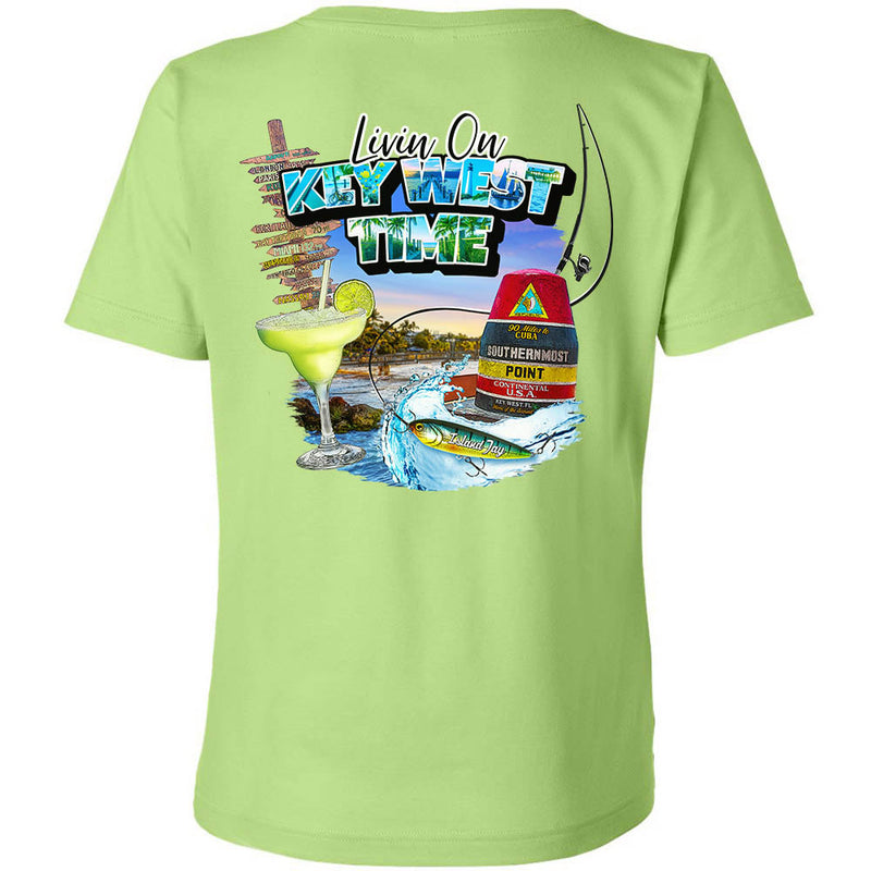 Ladies Livin On Key West Time Howard Livingston V-Neck T-Shirt