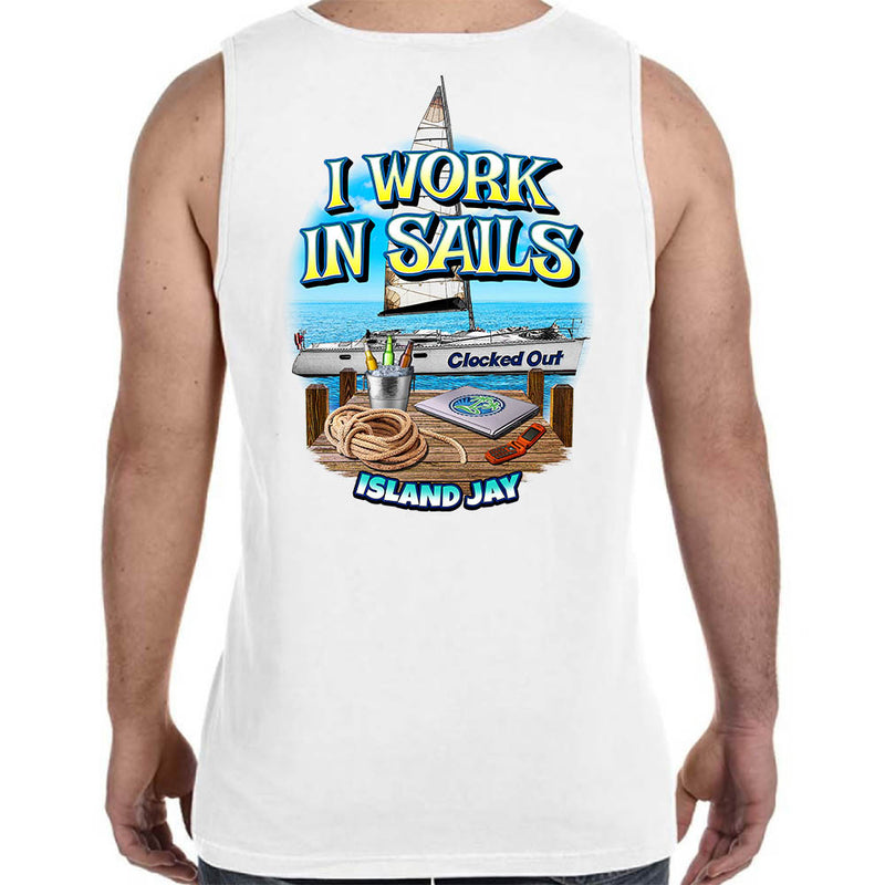 I Work In Sails Tank Top