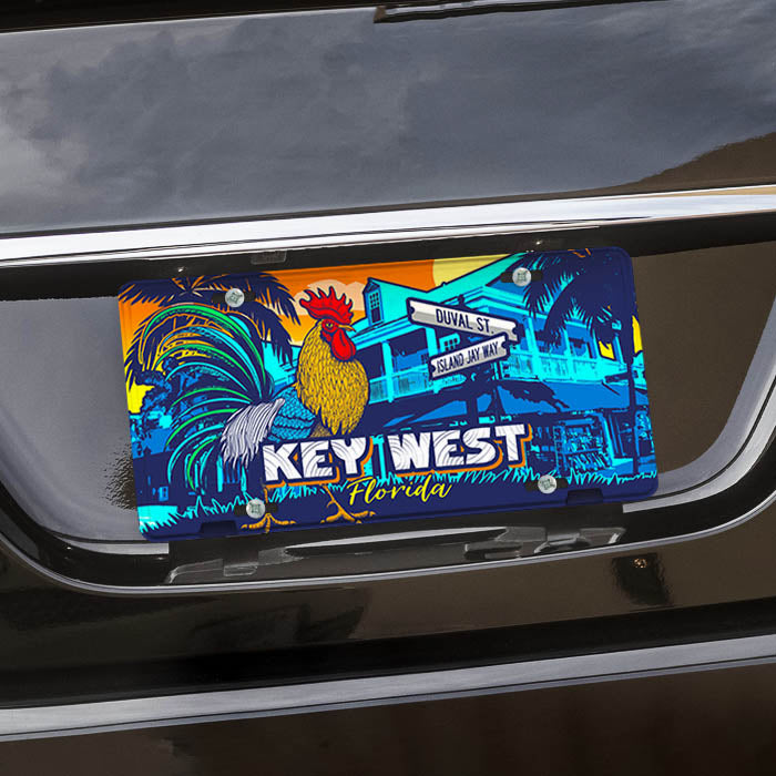 Key West Rooster License Plate