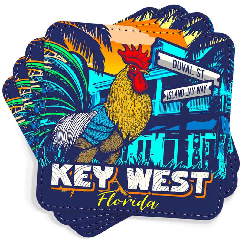 Key West Rooster Trade Wind Coasters