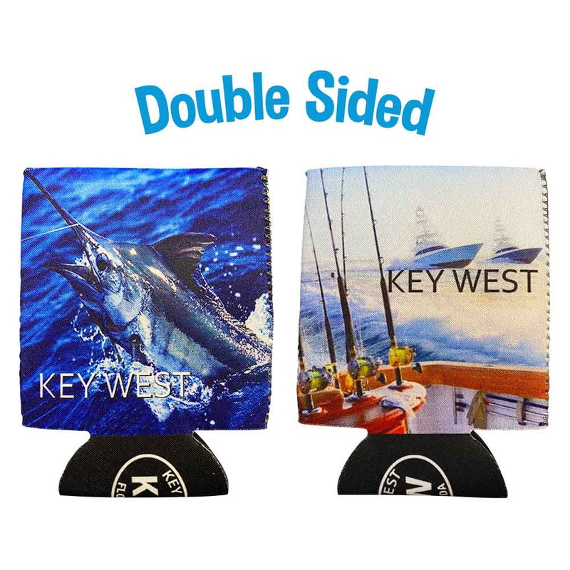 Key West Sailfish Neoprene Drink Can Cooler Sleeve