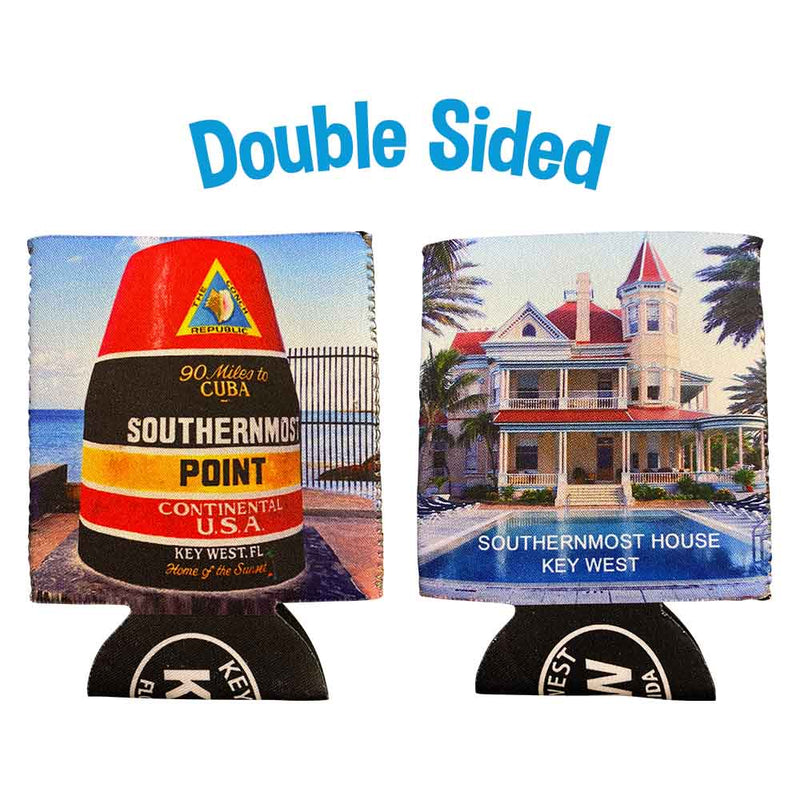 Key West Southernmost House & Buoy Neoprene Drink Can Cooler Sleeve