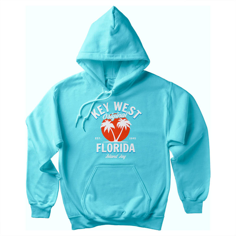 Key West Florida Original - Palm Tree Soft Style Pullover Hoodie