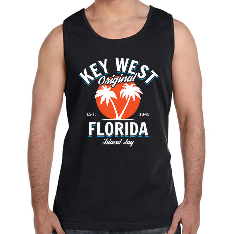 Key West Florida Original - Palm Tree Tank Top
