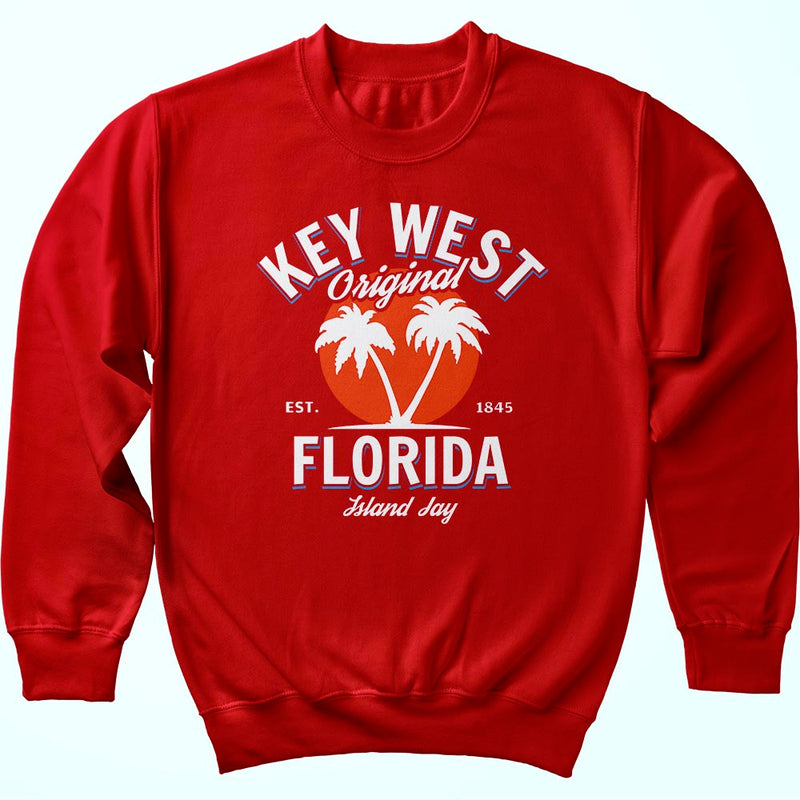 Key West Florida Original - Palm Tree Sweatshirt
