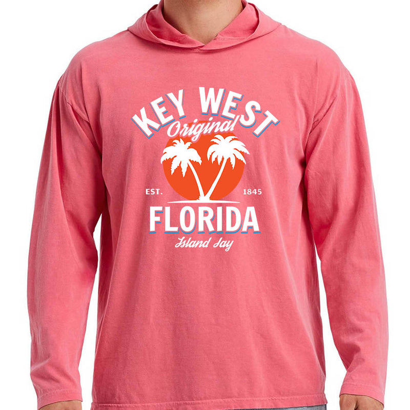 Key West Florida Original - Palm Tree Tee Hoodie