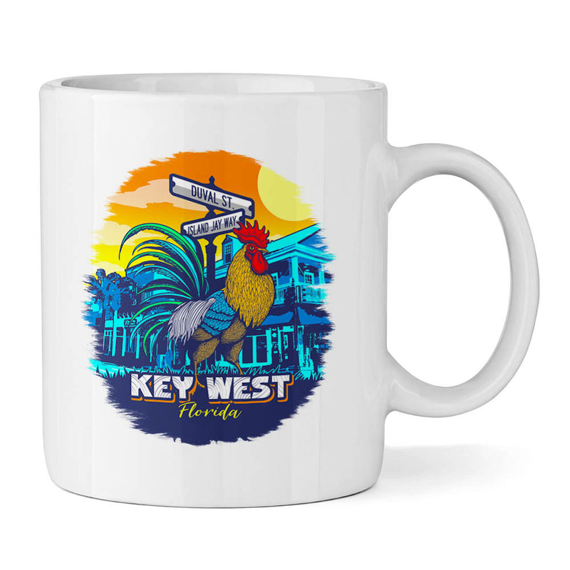 Key West Rooster 11oz Ceramic Mug