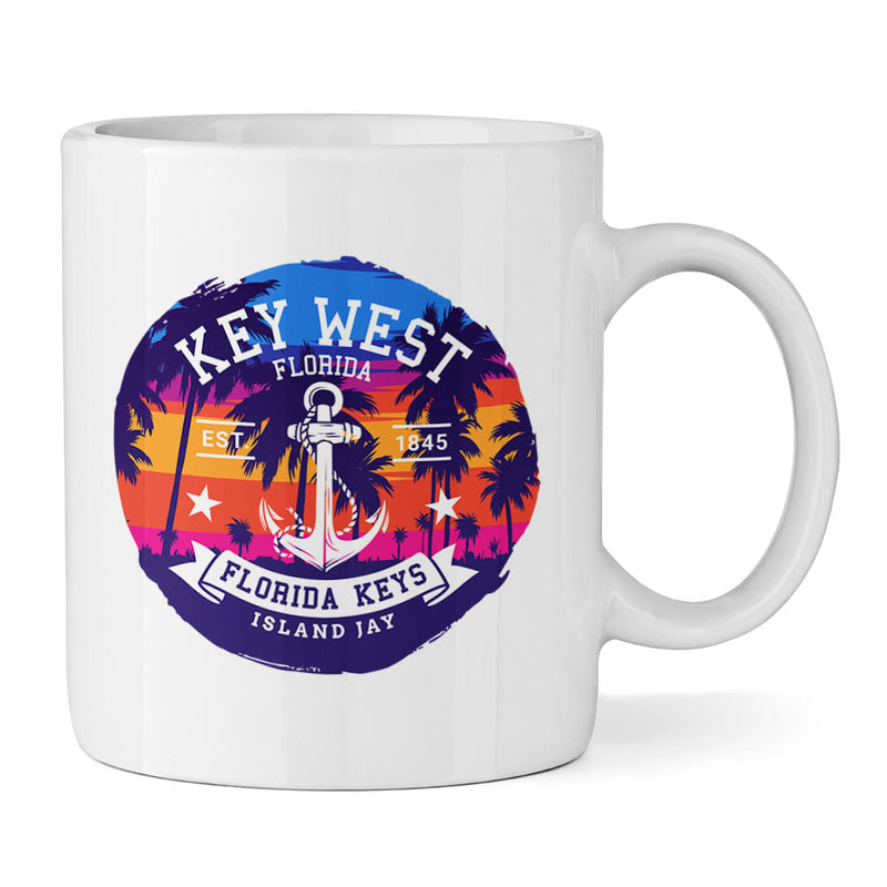 Key West Anchor 11oz Ceramic Mug