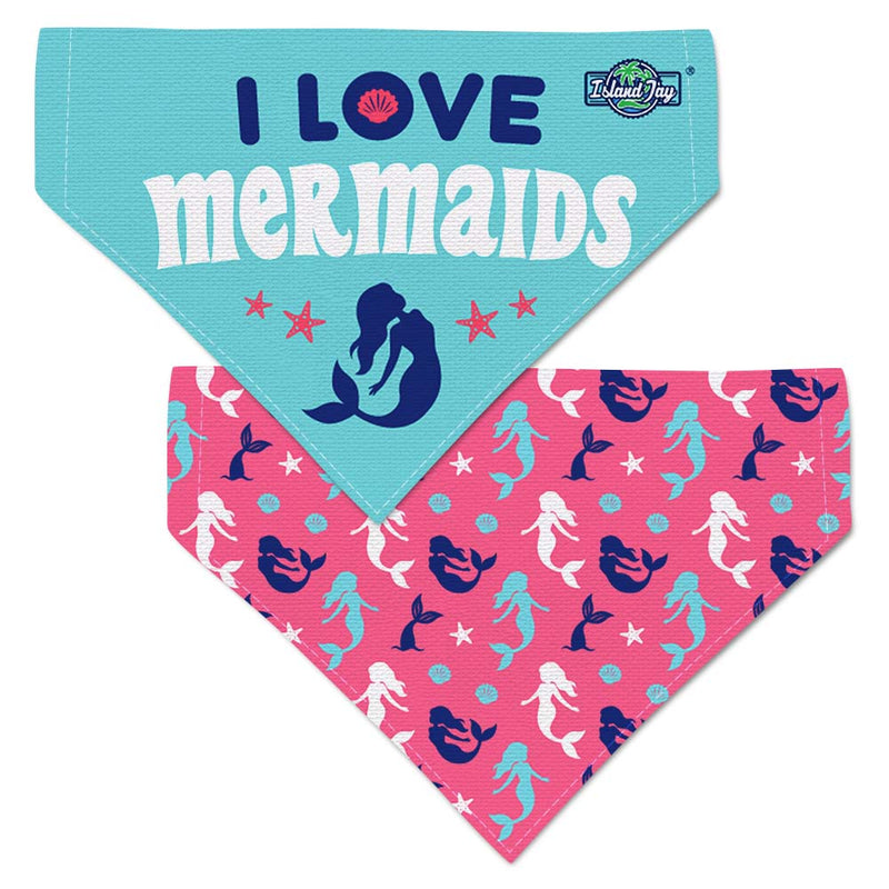 I Love Mermaids Dog Bandana