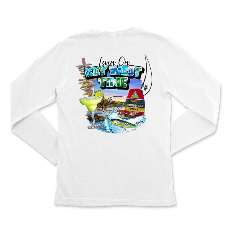 Ladies Livin on Key West Time Long Sleeve T-Shirt