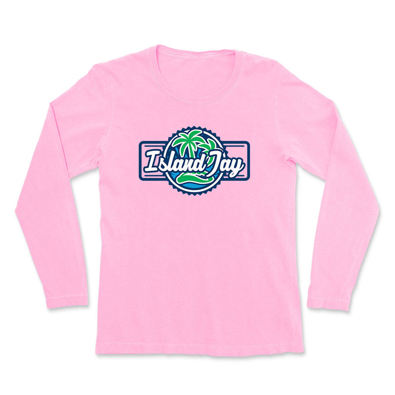 Ladies Island Jay Palm Tree Logo Long Sleeve T-Shirt