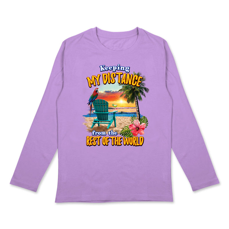Ladies Keeping My Distance Long Sleeve T-Shirt