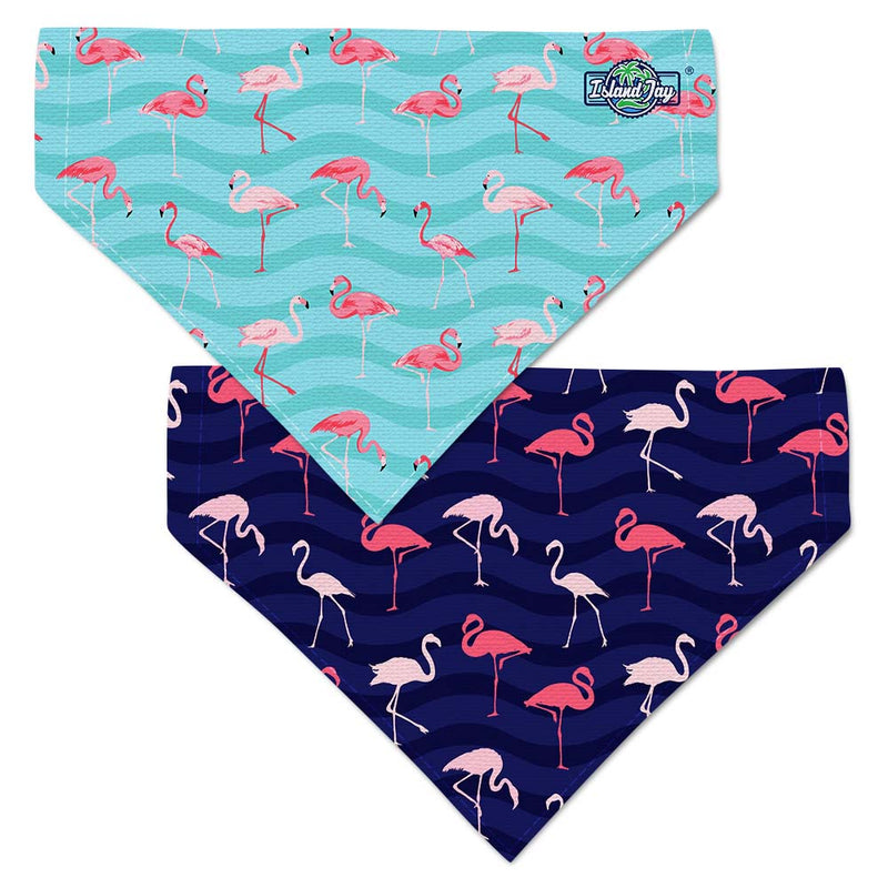 Flamingos On Blue Dog Bandana