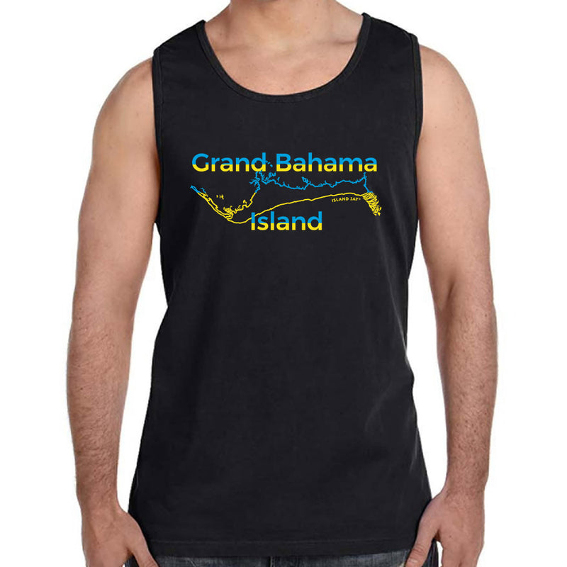 Grand Bahama Islands Map & Flag Tank Top