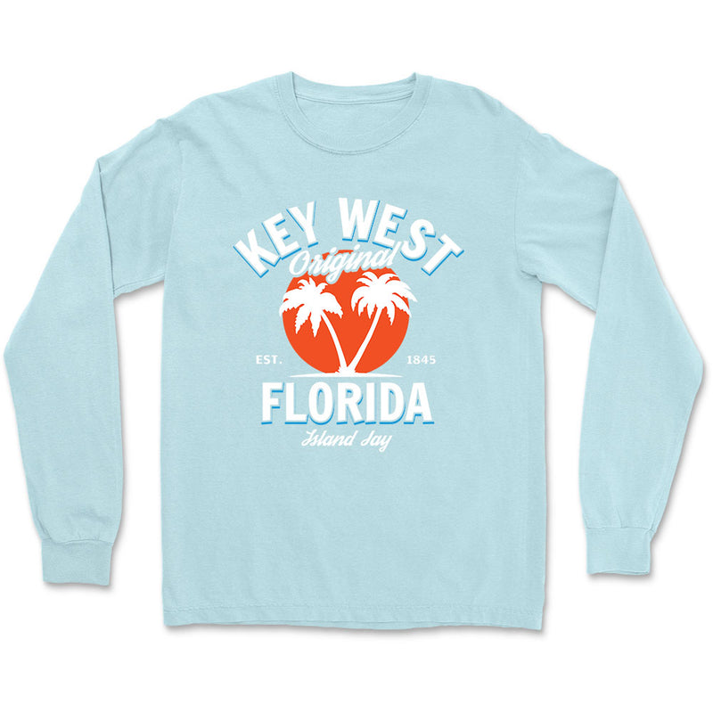 Key West Florida Original - Palm Tree Long Sleeve T-Shirt