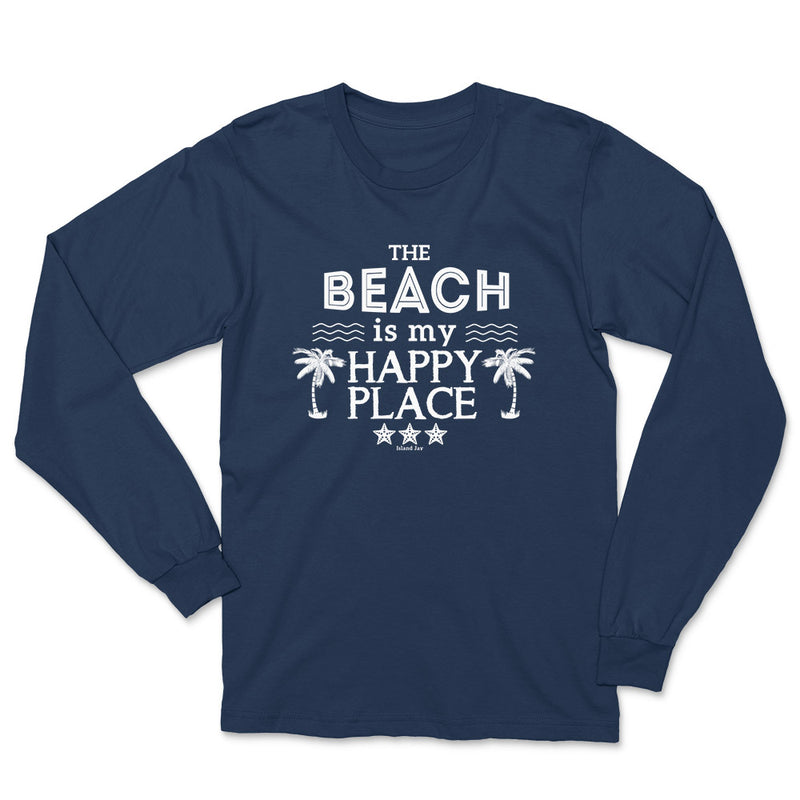 The Beach Is My Happy Place Long Sleeve T-Shirt