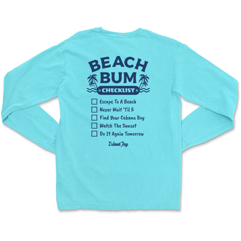 Beach Bum Checklist Long Sleeve T-Shirt