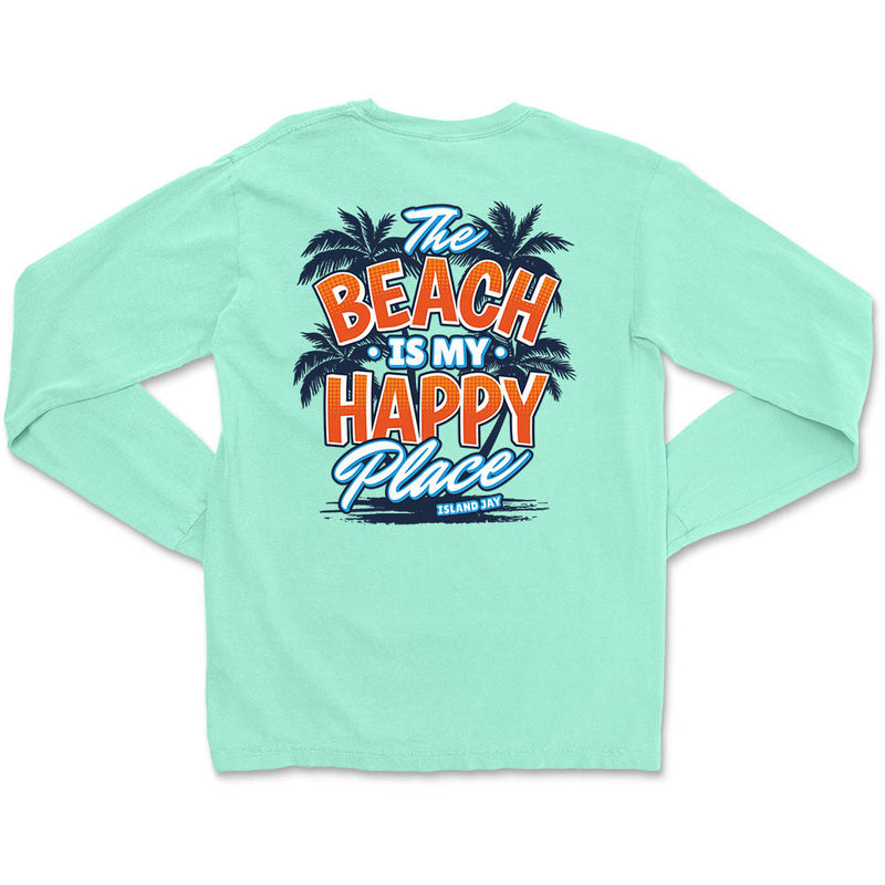 The Beach Is My Happy Place - Island Style Long Sleeve T-Shirt