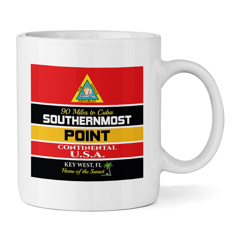 Key West Southernmost Point 11oz Ceramic Mug