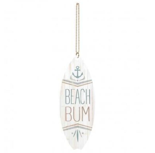 Beach Bum Car Charm 4.25""