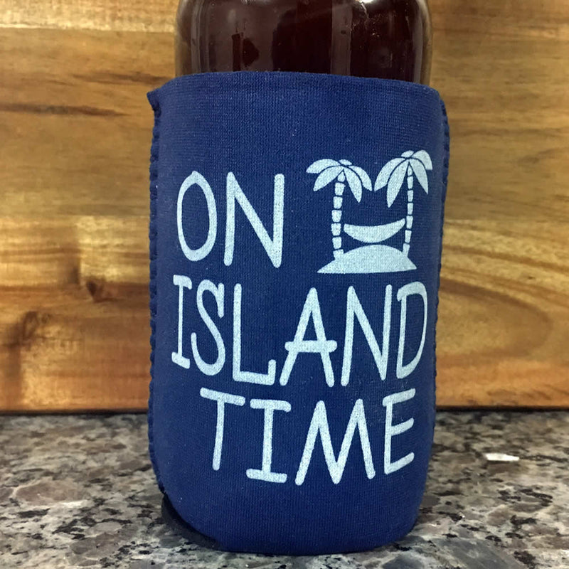 On Island Time Neoprene Drink Cooler Sleeve