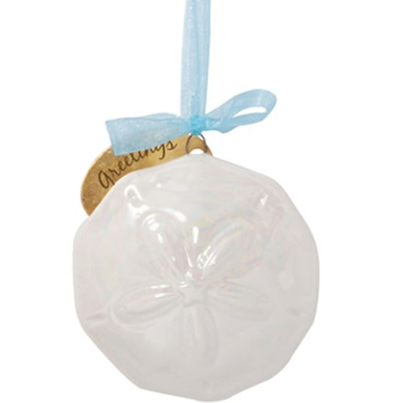 Cape Shore Ceramic Pearlized Sand Dollar Ornament