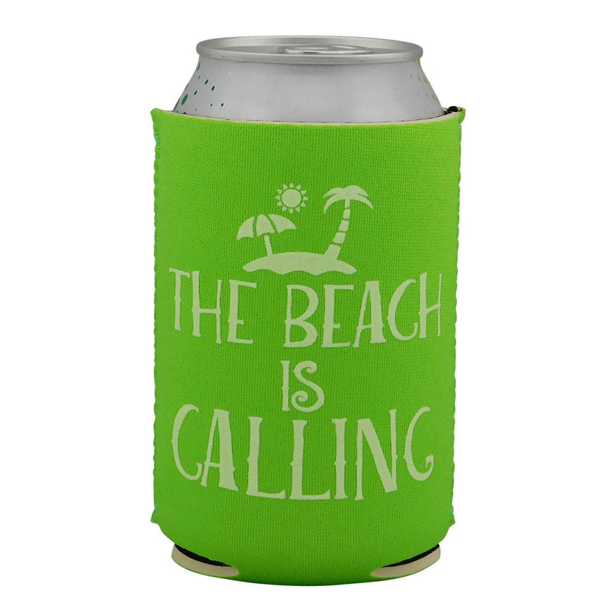 Beach Themed Neoprene Drink Cooler Sleeve