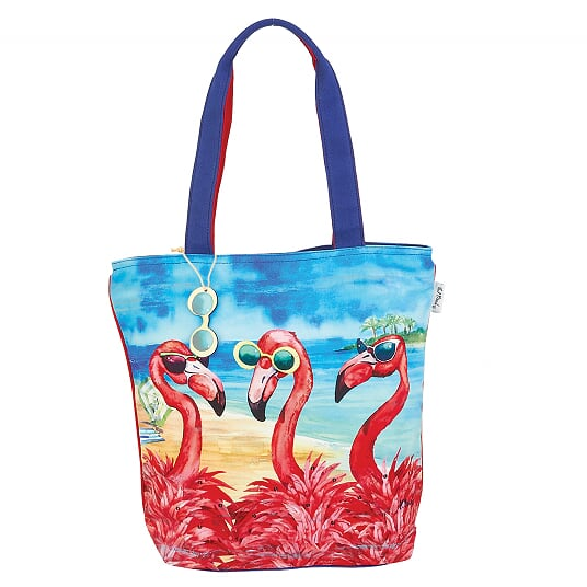Flamingo Girlfriends Shoulder Tote Beach Bag