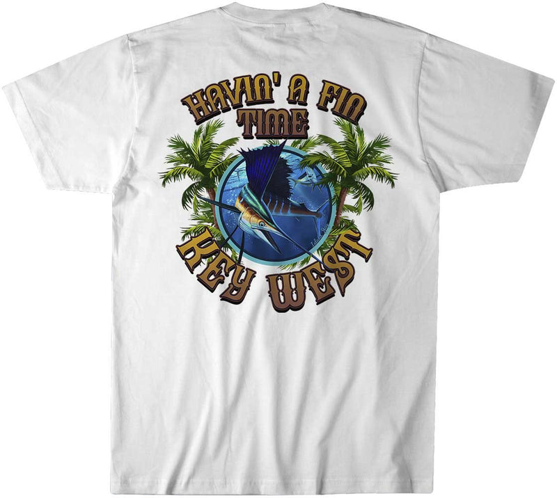 "Havin a Fin Time ""Key West"" Sailfish T-Shirt"