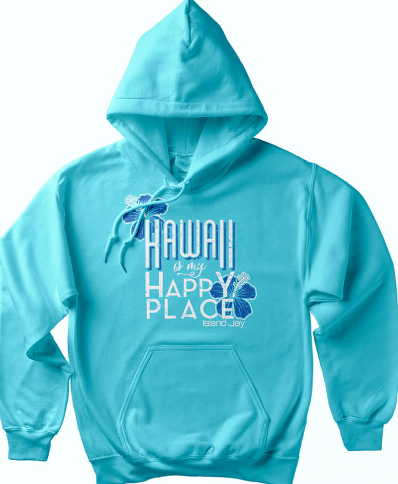 Hawaii is my Happy Place Soft Style Pullover Hoodie