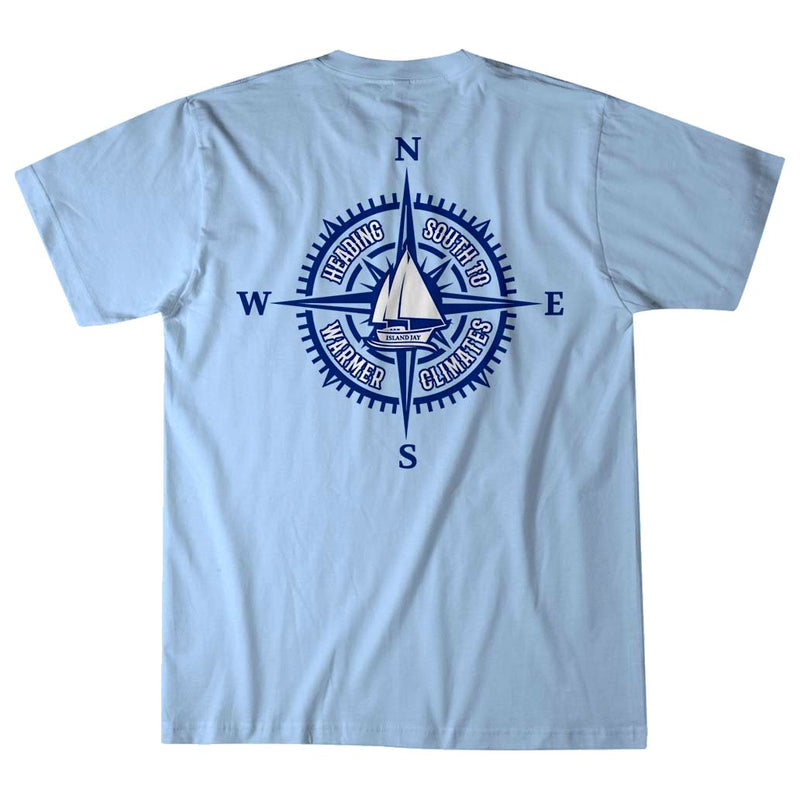 Heading South to Warmer Climates Compass T-Shirt