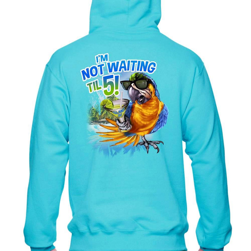 I'm Not Waiting Til 5 Parrot Soft Style Pullover Hoodie