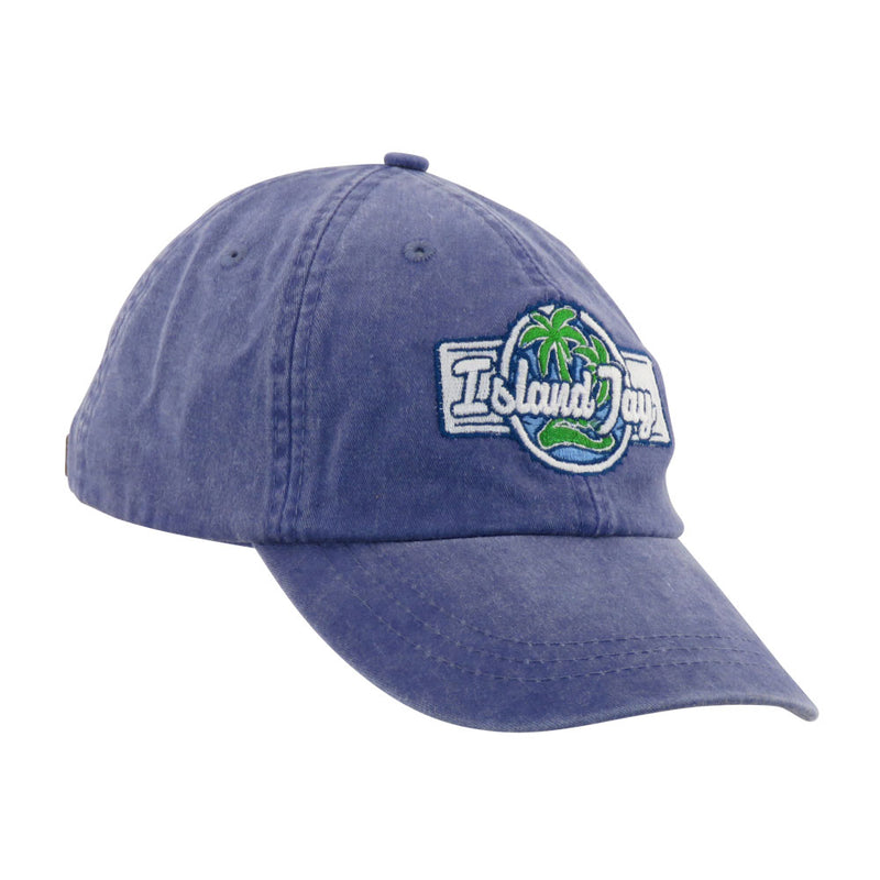Island Jay Embroidered Branded Hat Purple