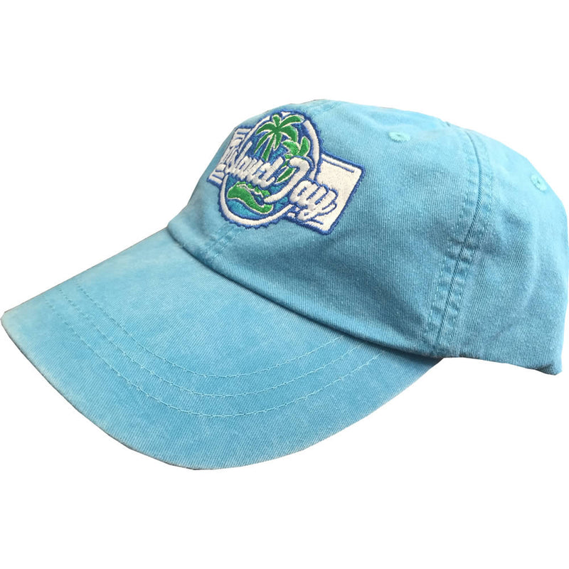 Island Jay Embroidered Branded Hat Blue