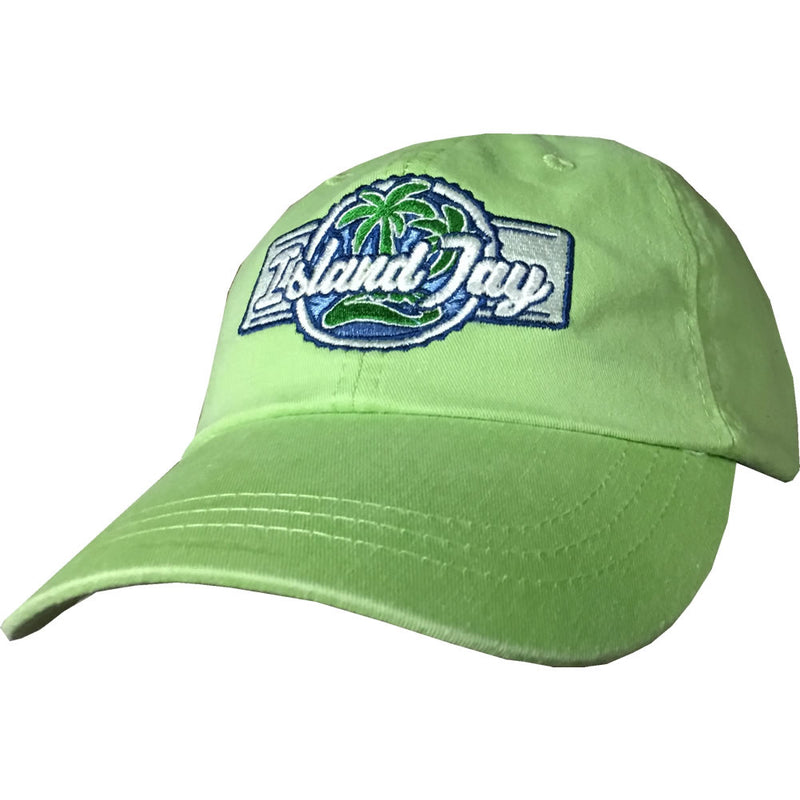 Island Jay Embroidered Branded Hat Key Lime Green