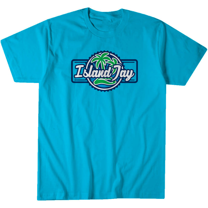 Island Jay Palm Tree Logo Short Sleeve T-Shirt