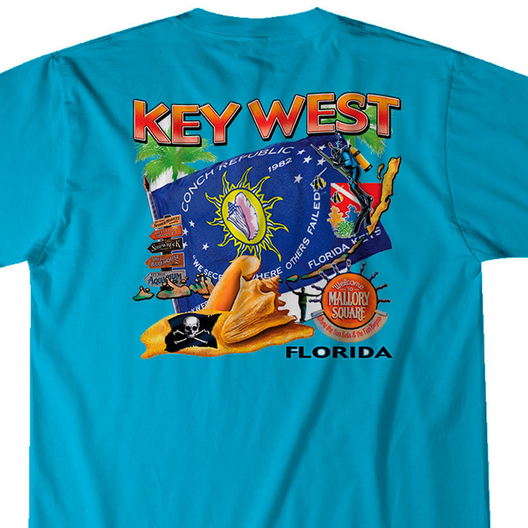 Key West Conch Republic Scuba T-Shirt