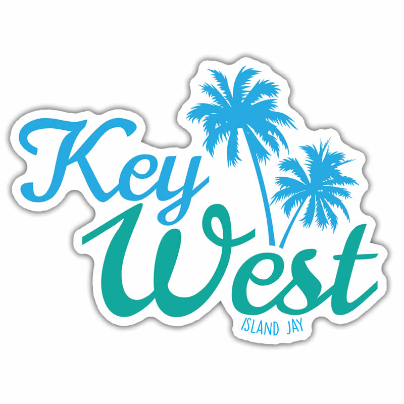 Key West Palm Tree Die Cut Beach Sticker