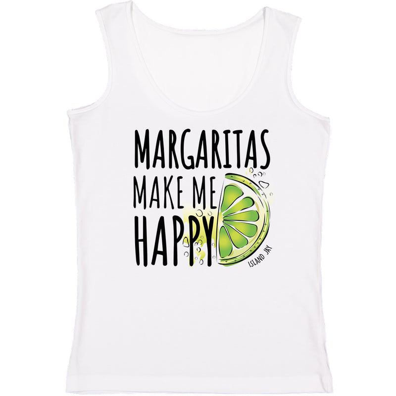 Ladies Margaritas Make Me Happy Tank Top
