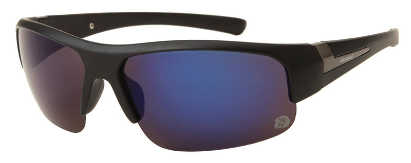 Margaritaville Polarized Sunglasses - Matte Black Frame & Smoke Blue Mirror Lens