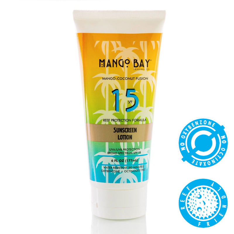 Mango Bay Trading Company Sunblock Lotion SPF 15 6oz Tube