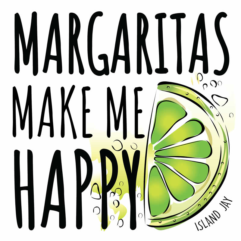 Margaritas Make Me Happy Die Cut Beach Sticker